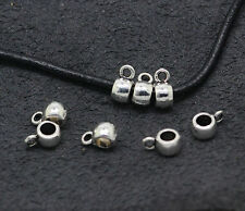 Tibetan Silver Smooth Spacer Bail Beads Charms Pendant fit DIY 10-400pcs 8.5x6mm