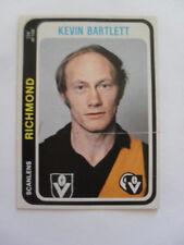 Richmond Football Club Tigers Kevin Bartlett 1979 Scanlens Footy Cards VFL AFL