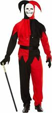 Halloween Adult Male Evil Jester Fancy Dress Up Outfit Costume One Size NEW