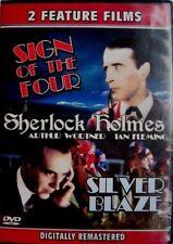 DVD Sherlock Holmes The Sign of Four / Silver Blaze: Arthur Wontner Ian Fleming