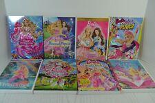 Barbie DVD Lot of 8, Secret Door Princess & the Popstar Pauper Power Pearl Pony