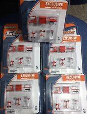 Lot of 5 x 1/64 Scale Tool Kits* Jack-Drill Press-Tool Box-Bench-Lights & Hoist