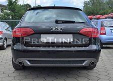 Audi A4 08-11 Rear Bumper Spoiler Diffuser twin exhaust addon Sline left side