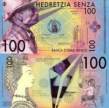SIMA SENCO 100 Senza Fun-Fantasy ART Money Banknote Currency 2016 Private Issue