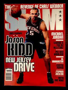 June 2003 SLAM Basketball Magazine ~ Jason Kidd - NETS No Label ~ Newsstand Copy