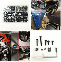 177X High Quality Black Motorcycle Bumper Fairing Bolt Kit Fastener Clips Screw