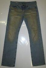 Vintage Second Hand Lady FORNARINA JEANS Gold Glitzer Bootcut Blau 28/32 W28 L32