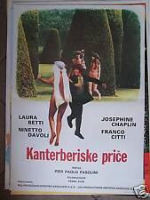 I RACCONTI DI CANTERBURY-PASOLINI-YUGO MOVIE POSTER '72
