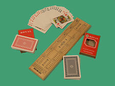 Cribbage Board With Two Packs of Playing Cards - Ref: 00185