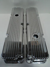 "Ford FE Fabricated Aluminum Tall Valve Covers 1/4"" Billet Rail BBF 360 390 428"