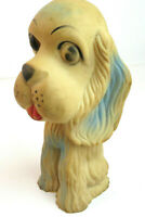"1953 Spaniel Dog 7"" Rubber Squeaker Toy - Vintage Kaysam Latex Company"