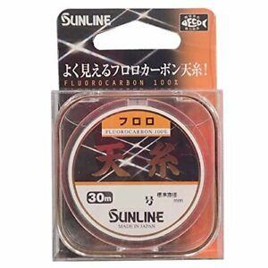 SUNLINE Tenito Fluorocarbon 30m #1 Matt Flash Orange Fishing Line