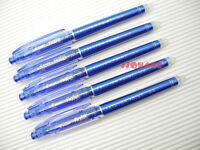 5 x Pilot FriXion 0.4mm Extra Fine Erasable Needle Tip Gel Rollerball Pen, Blue