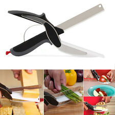 Clever Cutter 2-in-1 Cutting Board Scissors Multifunctional Knife-Free Shipping