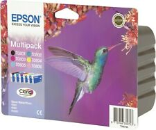 Epson T0807 B/C/M/Y/LC/LM Hummingbird Original Genuine Ink Cartridges T0807