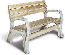 Patio Bench Outdoor Lawn Garden Porch Chair Kit Sand Durable Resin Frame