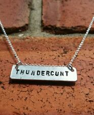 Thundercunt Necklace Funny Birthday Gifts for Her Alternative jewelry BFF Friend
