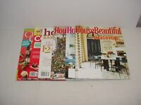 Lot of 3 House Beautiful And 3 Assorted Holiday Magazines 2011 to 2017