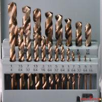 Drillforce 21PCS Cobalt Drill Bits Set Professional HSS M35 Twist Metal Tools