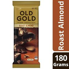 NEW Cadbury Tasty Old Gold Dark Chocolate Block Crunchy Roast Almond Nuts 180g