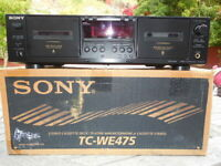 Sony Dual Cassette Deck TC-WE475 Player Recorder Box & Manual = Dolby B C HX PRO