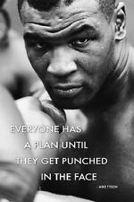 """Mike Tyson  poster 24x36"""" Everyone has a plan until they are punched in face"""