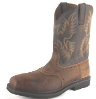 Ariat Mens Sierra Square Toe Steel Toe Safety Work Western Boots 10010134
