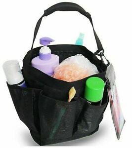 SALT Black Mesh Shower Bath Tote Organizer Cell Phone Pouch Dorm Home New NWT