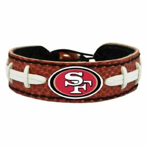 San Francisco 49ers Bracelet Wristband NFL Classic Genuine Football Material