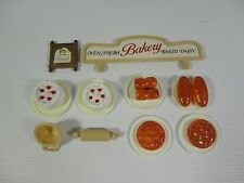 Sylvanian Families Bakery Accessories Bundle - Sign Bread Cakes Rolling Pin Food