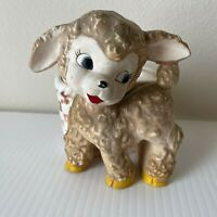 Vintage Napco Ceramic Lamb Planter 1960s Kitsch Japan Nursery Baby Shower 4.5""