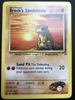 Carte Pokemon BROCK'S SANDSHREW 72/132 Gym Hereos Wizard Near Mint