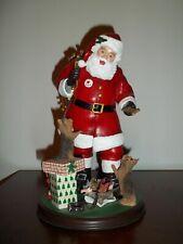 "RARE Danbury Mint  Santa's Little Yorkies 9.5"" EUC"