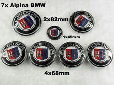 7x ALPINA BMW Emblem logo 2x 82mm Motorhaube Kofferaum 68mm FELGENDECKEL + 45mm
