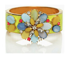 BLOOMBURST! Kate Spade Bungalow Bouquet HUGE CUFF BRACELET HINGED BANGLE MOP