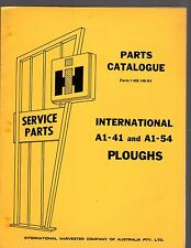 INTERNATIONAL HARVESTER A1-41 & A1-54 Ploughs Illustrated Parts Catalogue
