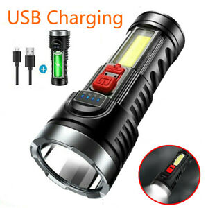 10000000LM LED Flashlight Tactical Light Super Bright Torch USB Rechargeable