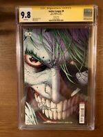 Justice League #8  Variant - CGC SS 9.8 Signed By Jim Lee 11/2018 Joker
