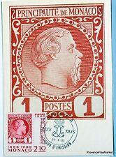 Yt 1457 EXPOSITION PHILATELIQUE  1985  MONACO  CARTE MAXIMUM 1° JOUR FCP