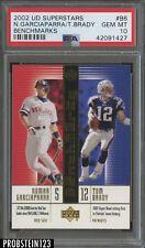 2002 Upper Deck Benchmarks #B6 Tom Brady Patriots PSA 10 GEM MINT POP 1