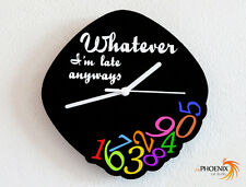 Whatever I'm Late Anyways - Outlined - Colorful - Custom Name Wall Clock