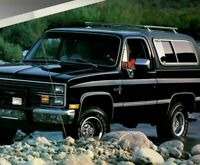 1984 Chevy full size BLAZER Brochure / Catalog w/ Color Chart: 4x4,SILVERADO,4WD