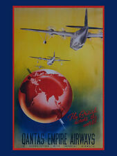 Qantas Empire Airlines Travel Flight flying Airplane Metal Sign