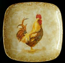 222 FIFTH PTS RUSTIC ROOSTER SALAD PLATE 8 5/8""