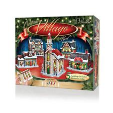 NEW! Wrebbit 3D Puzzle Christmas Village 116 piece jigsaw puzzle