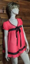 VICTORIA'S SECRET PINK SIZE MEDIUM BABYDOLL NIGHTGOWN   w#10417