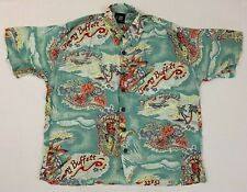 JIMMY BUFFET 2001 a beach odyssey rayon hawaiian shirt sz s small giant concert