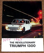 1967 TRIUMPH 1300 & 1300 TC Sales Brochure