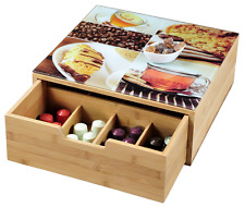 Kesper 50950 Box with Drawer for Coffee Capsules or Teabags / Bamboo / Dimension
