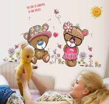 Bären süß rosa XXL Wandtattoo Wandaufkleber Deko Folie Baby Mädchen Kinderzimmer